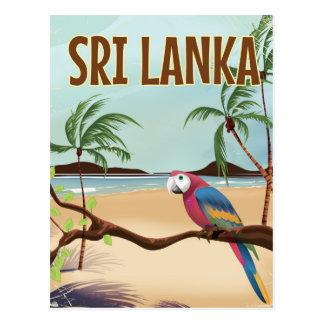 Sri Lanka Beach vintage travel poster Postcard