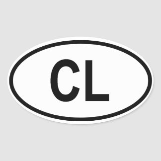 "Sri Lanka ""CL"" Oval Sticker"