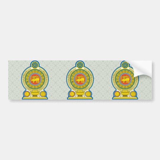Sri Lanka Coat of Arms detail Bumper Sticker