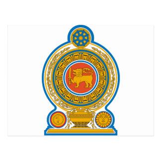 Sri Lanka Coat of Arms Postcard