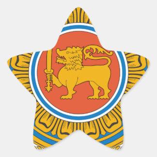 Sri Lanka Coat of Arms Star Sticker