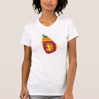 sri lanka country flag map shape silhouette symbol T-Shirt