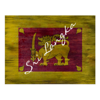 Sri Lanka distressed Sri Lankan flag Postcard
