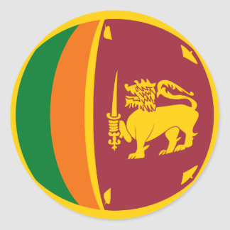 Sri Lanka Fisheye Flag Sticker