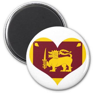 Sri Lanka flag 6 Cm Round Magnet
