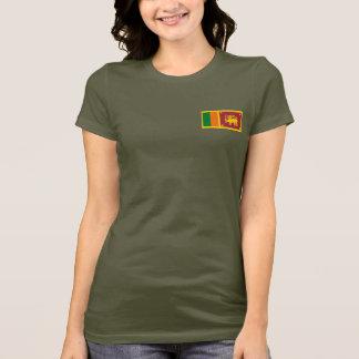 Sri Lanka Flag and Map dk T-Shirt