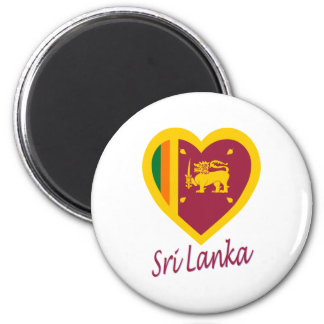 Sri Lanka Flag Heart Magnet