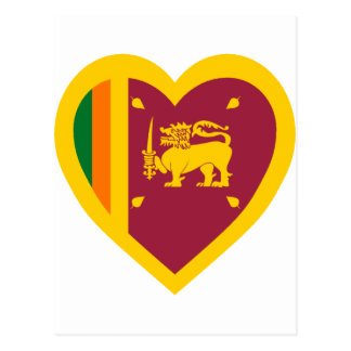 Sri Lanka Flag Heart Postcard