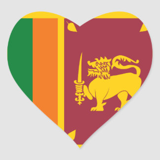 Sri Lanka Flag Heart Sticker