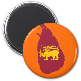 Sri Lanka flag map Magnet