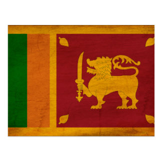 Sri Lanka Flag Postcard