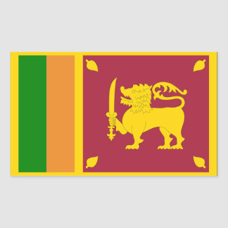 Sri Lanka Flag Rectangular Sticker
