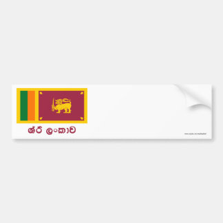 Sri Lanka Flag with Name in Sinhalese Bumper Sticker