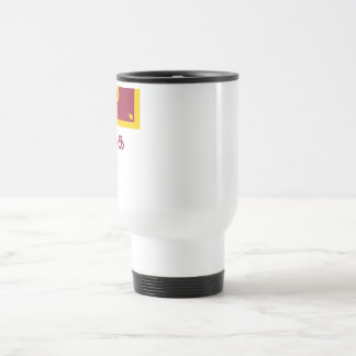 Sri Lanka Flag with Name in Tamil Travel Mug