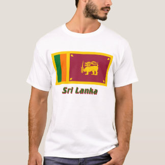 Sri Lanka Flag with Name T-Shirt
