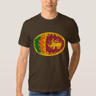 Sri Lanka Gnarly Flag T-Shirt
