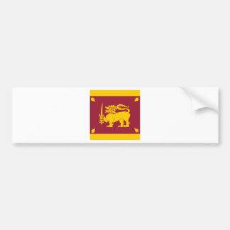 Sri Lanka High quality Flag Bumper Sticker