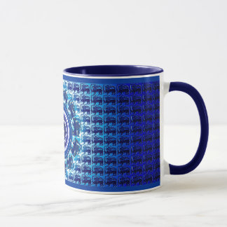 Sri Lanka lion parade blue mug