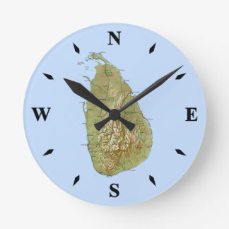 Sri Lanka Map Clock
