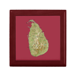 Sri Lanka Map Gift Box