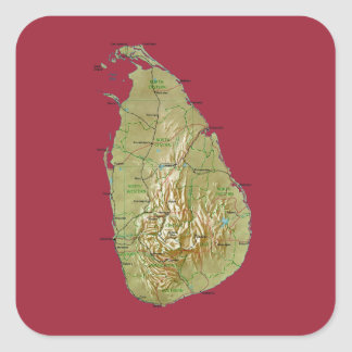 Sri Lanka Map Sticker