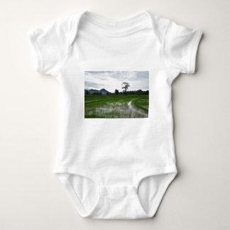Sri Lanka rice fields Baby Bodysuit