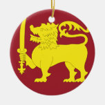 Sri Lanka Round Ceramic Decoration