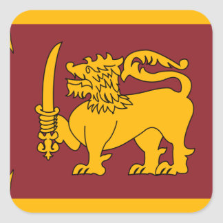sri lanka square sticker