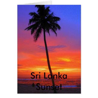 Sri Lanka Sunset Greeting Card