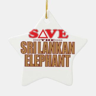 Sri Lankan Elephant Save Christmas Ornament