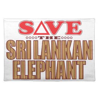 Sri Lankan Elephant Save Placemat