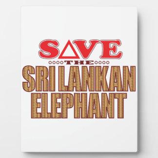 Sri Lankan Elephant Save Plaque