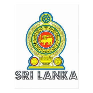 Sri Lankan Emblem Postcard