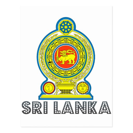 Sri Lankan Emblem Postcards