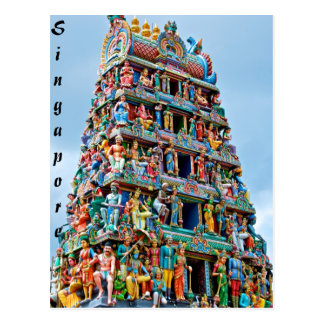 Sri Mariamman Temple Singapore Postcard