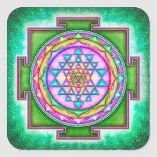 Sri Yantra - Artwork VII Square Sticker