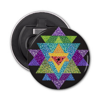 Sri Yantra Bottle Opener