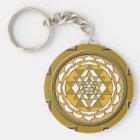 Sri Yantra Bronze Key Ring