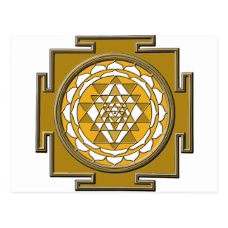 Sri Yantra Bronze Postcard