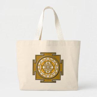 Sri Yantra Bronze Jumbo Tote Bag
