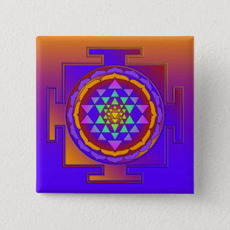 SRI YANTRA full colored + your ideas 15 Cm Square Badge