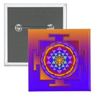 SRI YANTRA full colored + your ideas 15 Cm Square Badge