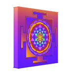 SRI YANTRA full coloured + your ideas Stretched Canvas Prints