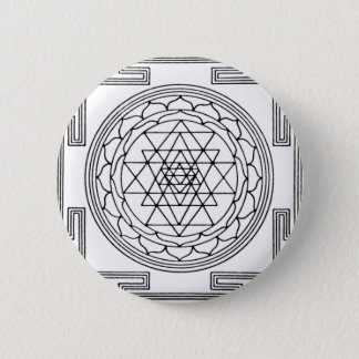 Sri Yantra Mandala 6 Cm Round Badge