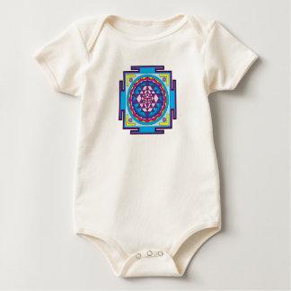 Sri Yantra Mandala Baby Bodysuit