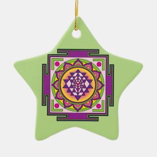 Sri Yantra Mandala Christmas Ornament