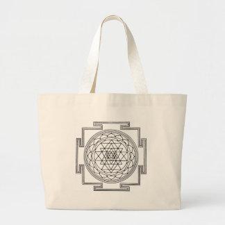 Sri Yantra Mandala Large Tote Bag