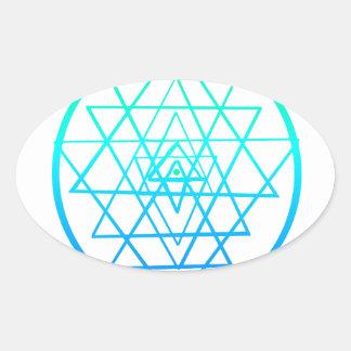 Sri Yantra Mantra Oval Sticker