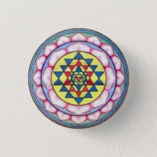 sriyantra in Lotus 3 Cm Round Badge