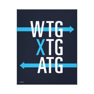 SRP Acronyms wall print (blue) Gallery Wrap Canvas